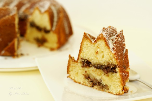 Bundt de chocolate y pecanas